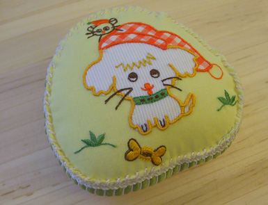 Embroideredpincushion